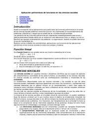 Funciones Polinómicas - Teoría Sociológica - Apuntes -Universidad Computlense de Madrid