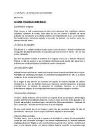 Mundo arcaico y modernidad - Sociología de la religión - Apuntes - Universidad Computlense de Madrid