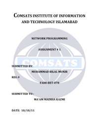 OSI Model-Network Programming-Assignment Solution