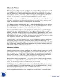 Inflation In Pakistan-Macro Economics-Assignment Solution