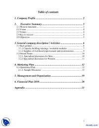 Business Plan-Introduction to Business-Assignment Solution