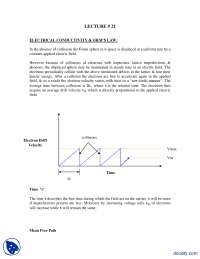 Electrical Conductivity and Ohm's Law-Mechanics of Materials-Handout