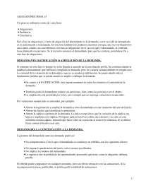 Procedimiento de Alegaciones en el Proceso - Derecho Procesal Español - Apuntes