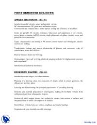 Courses in MS-Metallurgy and Materials Engineering--Handout