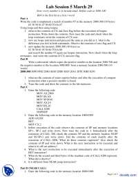 Coding Assembly Language-Microprocessors-Lab Assignments