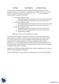 Fuzzy Logic-Final Exam Paper
