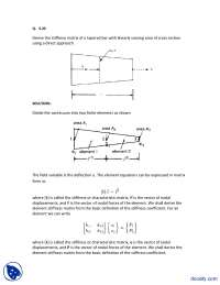 Stiffness Matrix of a Tapered Bar-Finite Element Method-Assignment Solution