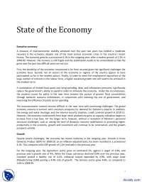 State of the Economy-Pakistan Studies-Handout