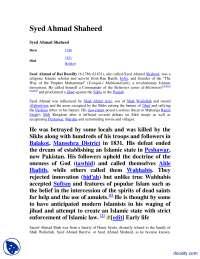Syed Ahmad Shaheed-Pakistan Studies-Handout
