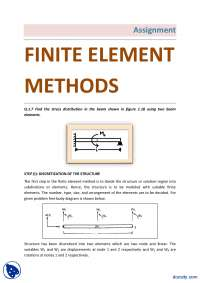 Stress Distribution Using Two Beam Elements-Finite Element Method-Assignment Solution