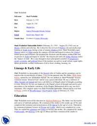 Shah Waliullah-Pakistan Studies-Handout