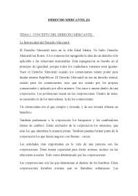 Derecho Mercantil I - Apuntes - Universidad Autónoma de Madrid - Parte 1