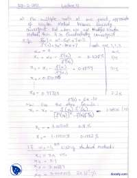 Modified Secant and Newton Formulae-Numerical Methods-Lecture Notes
