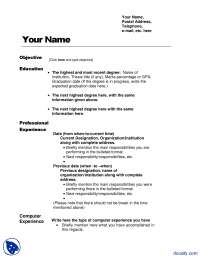 Resume Sample-Project Management-Handout