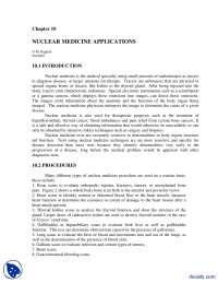 Nuclear Medicine Applications-Pharmacokinetics-Handout