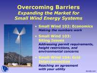 Expanding the Market for Small Wind Energy Systems-Wind Energy-Lecture Slides