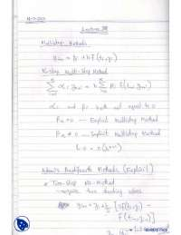 Multi-Step Methods-Numerical Methods-Lecture Notes
