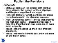 Control Publish the Revisions-Project Management-Lecture Slides