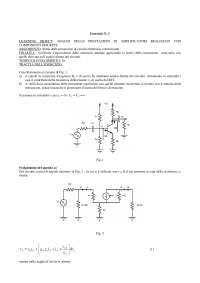 Esercizi Elettronica Analogica