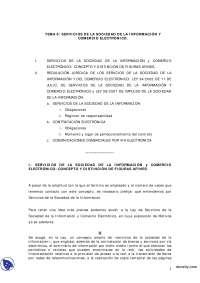 Servicios de la Sociedad de la Información y Comercio Electrónico - Derecho Informático - Apuntes - Profesora López Zamora