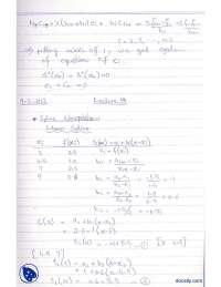 Spline Interpolation-Numerical Methods-Lecture Notes