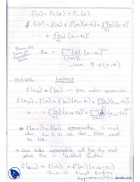 Taylor Polynomial Approximation-Numerical Methods-Lecture Notes