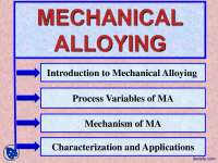Introduction-Introduction to Mechanical Alloying-Lecture Slides
