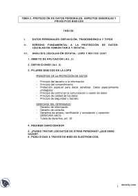 Protección de Datos Personales - Derecho Informático - Apuntes - Profesora López Zamora