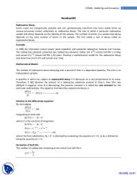 Radioactive Decay-Modeling and Simulation-Lecture Handouts