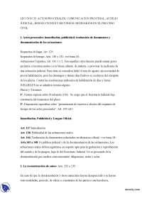 Actos Procesales- Derecho Procesal I - Apuntes - Profesora Mariscal de Gante - Parte 1