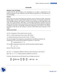 Newton's Law of Cooling-Modeling and Simulation-Lecture Handouts