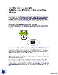 Meeting Minutes Sample-Effective Business Communication-Lecture Handout