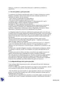 Coste de la Justicia y Gastos Judiciales - Derecho Procesal I - Apuntes - Profesora Mariscal de Gante