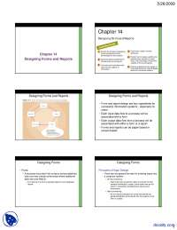 Designing Forms and Reports-Information Analysis and Design-Lecture Slides