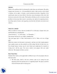 Memo Writing I-Effective Business Communication-Lecture Handout