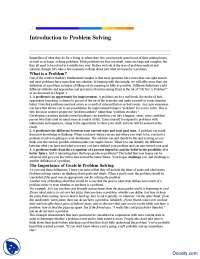 Introduction to Problem Solving-Effective Business Communication-Lecture Handout