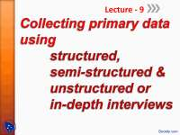 Collecting Primary Data-Operations Resarch -Lecture Slides