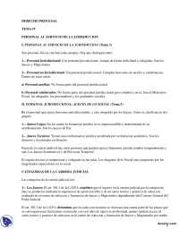 Personal al Servicio de la Jurisdicción - Derecho Procesal Español - Apuntes