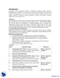 Course Outline-Semantic Computing and Bioinformatics-Handout