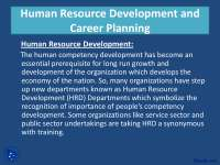 Human Resource Development and Career Planning-Training and Development-Lecture Slides