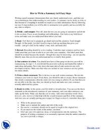 How to Write a Summary in 8 Easy Steps-Effective Business Communication-Lecture Handout
