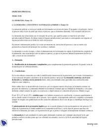 Apuntes de Derecho Procesal Español - El Proceso de Demanda