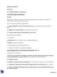Actividad Previa al Proceso - Derecho Procesal Español - Apuntes