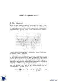 PHYLIP Computer Practical-Phylogentics-Handout