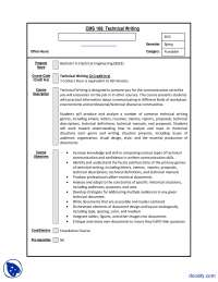 Course File-Technical Writing-Course Outline