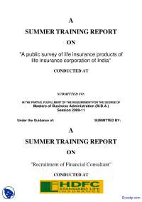 A Public Survey of Life Insurance Products in India