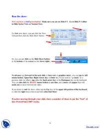 Slideshow-Using Powerpoint-Handout