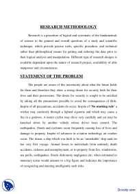 Statement of The Problem-Resarch Methodology-Handout