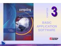 Basic Application Software-Information Technology-Lecture Slides