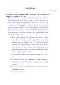 Appunti di Biochimica Generale E Industriale - carboidrati